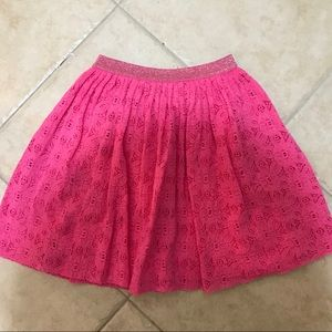 Zara girls pink skirt